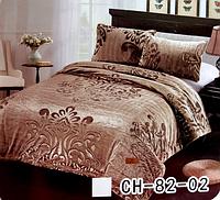 Велюровое покрывало на кровать Евро размера HIGH QUALITY - абстракция