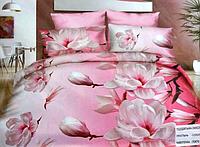 5D Двуспальное постельное белье East Comfort розового окраса