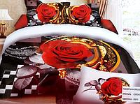 5D Постельное белье Евро размера East Comfort - Роза