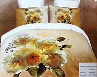 3D Постельное белье Евро размера Mingrenland молочные розы