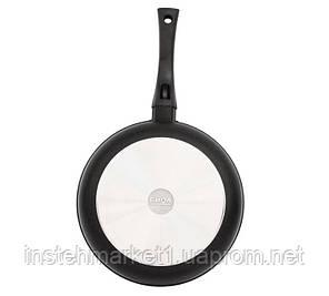 Сковорода БИОЛ 2409ПС (диаметр 240 мм) алюминиевая с антипригарным покрытием, крышка, фото 2