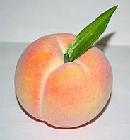 Искусственный персик, муляж фруктов, фрукты для декора, фото 1