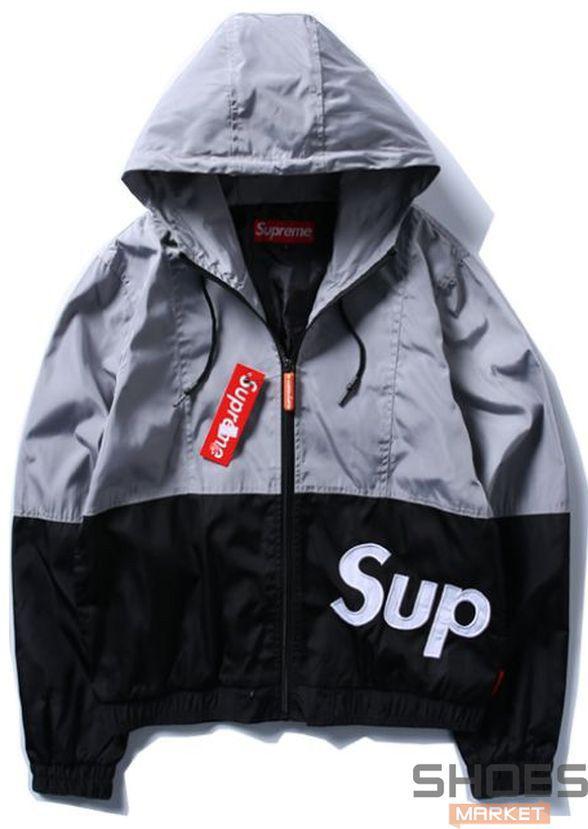 Куртка Supreme Black Bottom Grey Top (ориг.бирка)
