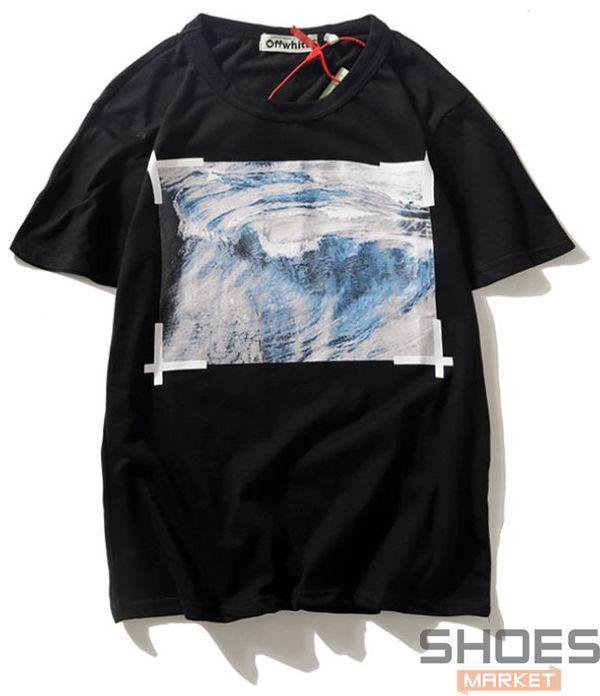 Футболка Off-white Wave Black (ориг.бирка)