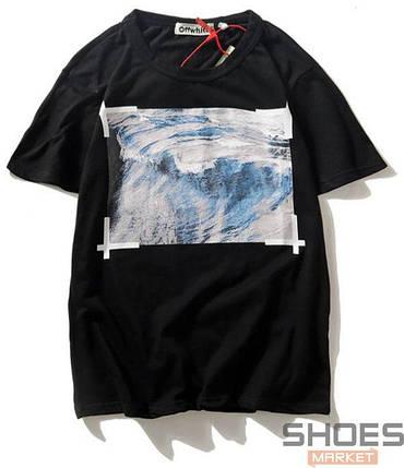 Футболка Off-white Wave Black (ориг.бирка), фото 2