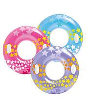 Дитячий надувний круг Intex Зірки