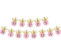 Гирлянда  Happy birthday c короной