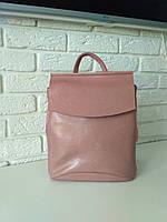 """Женский кожаный рюкзак """"Анжелика Pink"""", фото 1"""