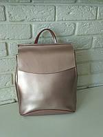 """Женский кожаный рюкзак """"Анжелика Bright Pink"""", фото 1"""