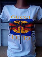 Футболка женская из коттона Gucci 2 белый