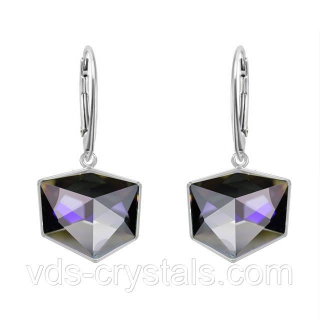 Сережки Swarovski зі срібла Crystal Purple CALVSI (PUZCV)/ 19мм