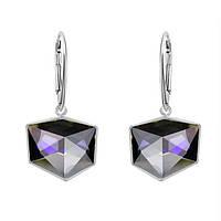 Серьги Swarovski из серебра Crystal Purple CALVSI (PUZCV)/ 19мм