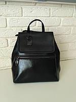 """Женский кожаный рюкзак-сумка(трансформер) """"Жозефина Black"""", фото 1"""