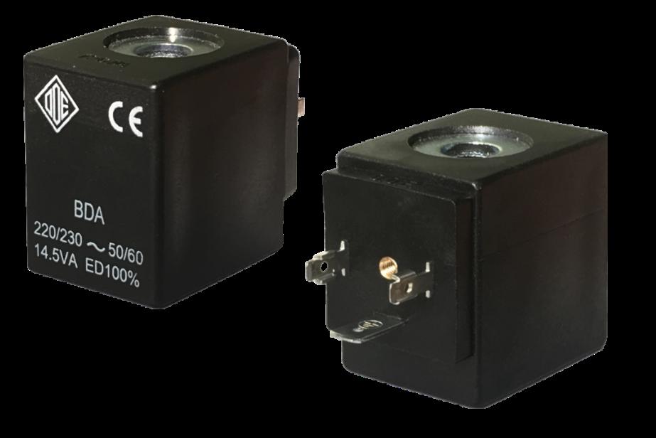 Электромагнитные катушки BDA, BDV компании ODE (Italy), 8 W, 30 мм x Ø13