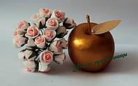 Роза 1,5-2 см, бело-персиковая