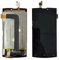 Дисплей (экран) для Leagoo Lead 7 с сенсором/тачскрином (модуль) чёрный