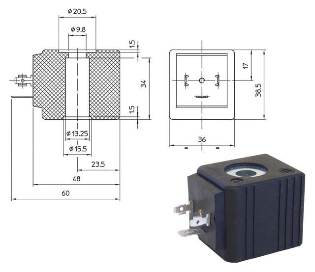 Электромагнитные катушки UDA, UDV (ODE, Italy)