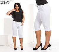 Бриджи женские большие размеры /ат362-3 белый