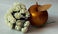 Роза 1,5-2 см, молочная