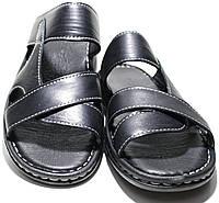 Сандали мужские кожаные, черные Pandew, фото 1