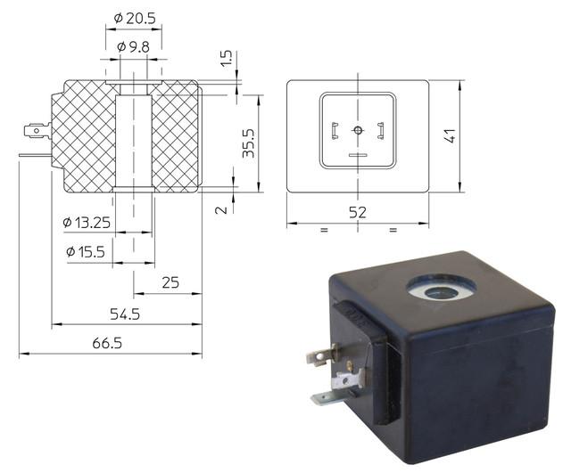 Электромагнитные катушки GDH, GDV (ODE, Italy)