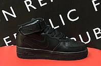 Кроссовки Air Force 141310 черные реплика