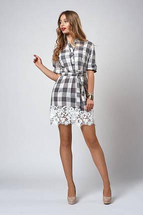 Платье-рубашка отделано пояском, фото 2