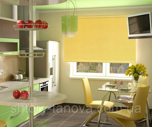 Рулонные шторы на окна oasis лимон