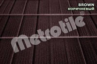 Композитная черепица Metrotile SHINGLE (шингл) Brown