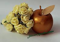 Роза 2,5 -3 см жёлтая