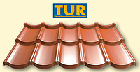 Металлочерепица модульная TUR ® | ТУР | Ral 8017 | 0,5 mm | Purmat | Польша | Прушински | 0,805 м2 |