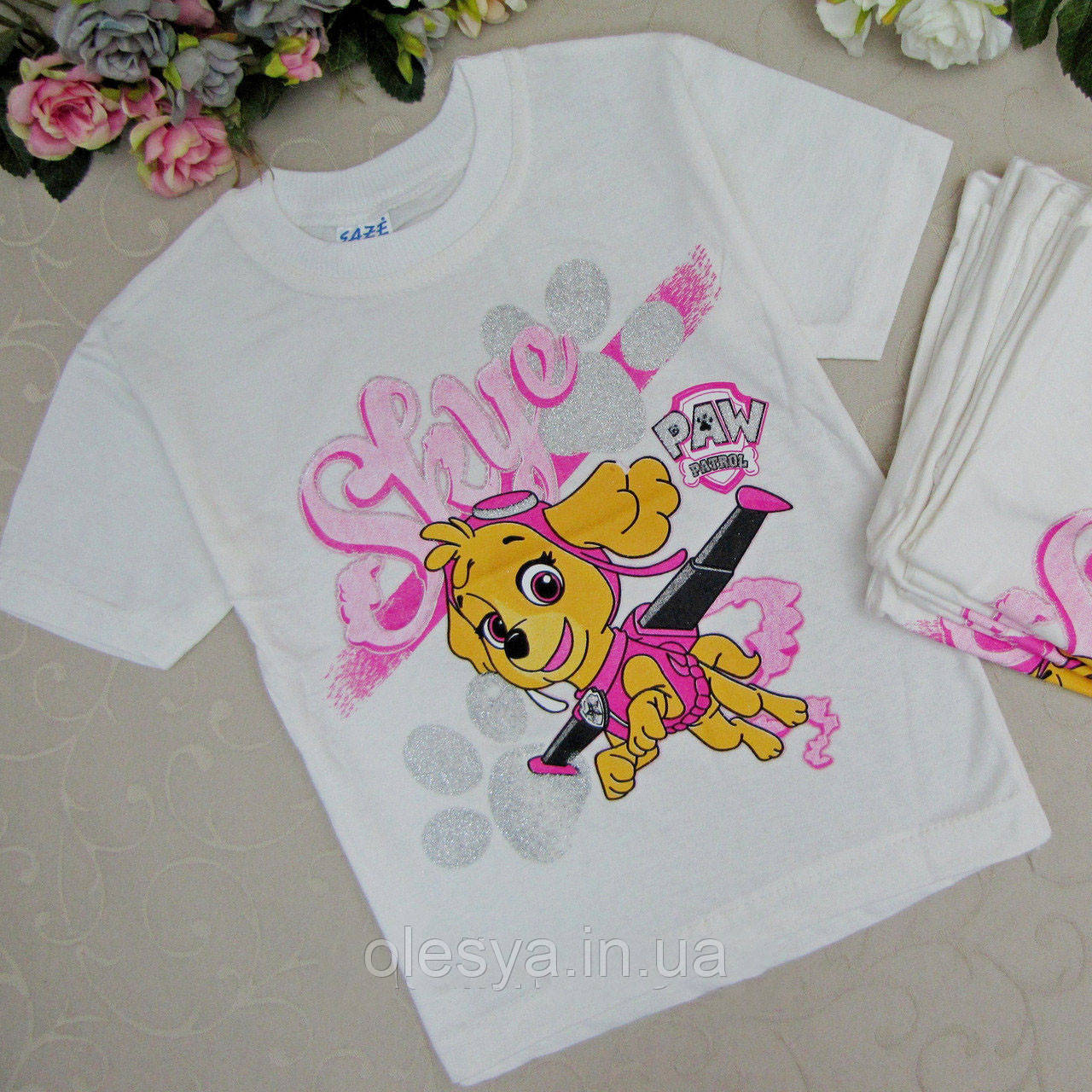 Детская футболка на девочку Щенячий патруль Размеры 1- 3 года Турция