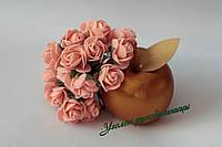 Роза 2,5-3 см персиковая