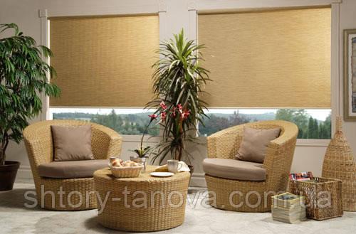Ролеты на окна тканевые золотой песок