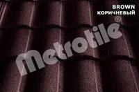 Композитная металлочерепица - Metrotile Roman коричневый