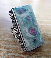 """Прямоугольный перстень с  циозитом """"Салатовый"""", размер 19,5 от студии  LadyStyle.Biz, фото 1"""