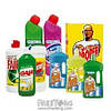 Бытовая химия : порошки стиральные, мыло, чистящие, моющие и дезинфицирующие средства,