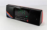 Мобильная Колонка SPS WS 1515 BT+ Clock, Динамик  с часми, Портативная колонка с блютуз, Колонка радиоприемник