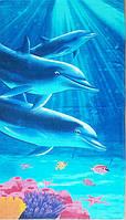 Полотенце пляжное Дельфины