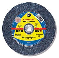 Лучший отрезной круг для тонкостенных профилей A 46 TZ Special KLINGSPOR KRONENFLEX (230мм*1,9мм)