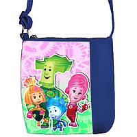 Синяя сумочка с принтом Фиксики