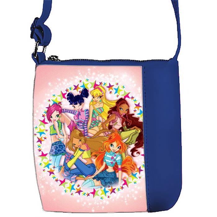 Синяя сумочка с принтом Феи Винкс