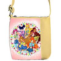 Бежевая сумочка с принтом Феи Винкс