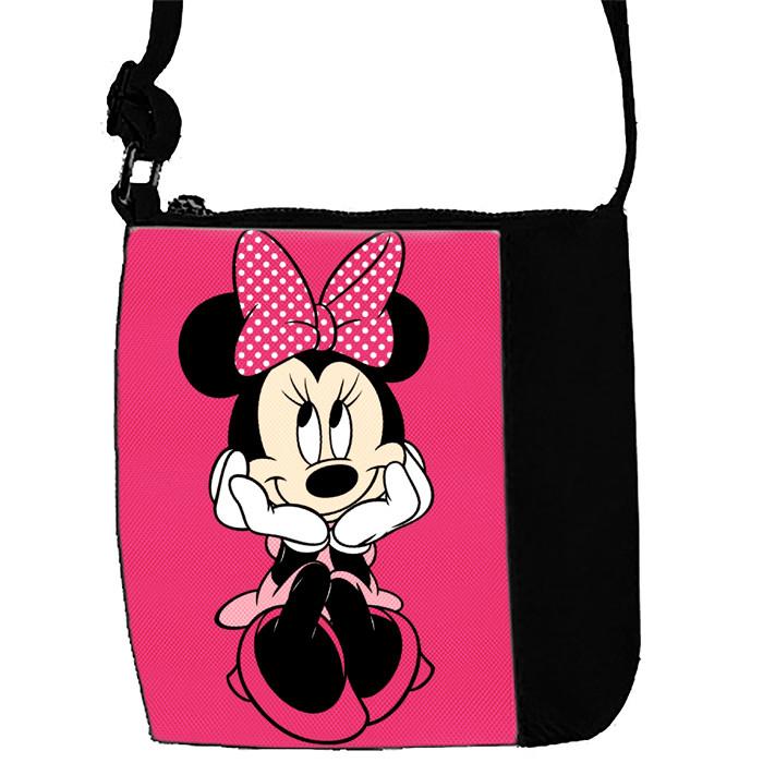 Черная сумочка с принтом Минни Маус