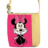 Бежевая сумочка с принтом Минни Маус