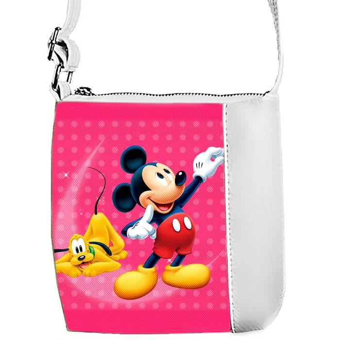 Белая сумочка с принтом Микки Маус