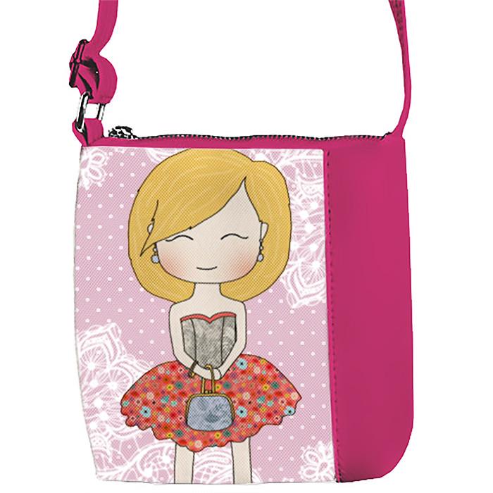 Розовая сумочка с принтом Милота