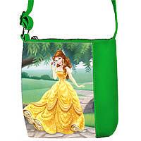 Зеленая сумочка с принтом Красавица и Чудовище
