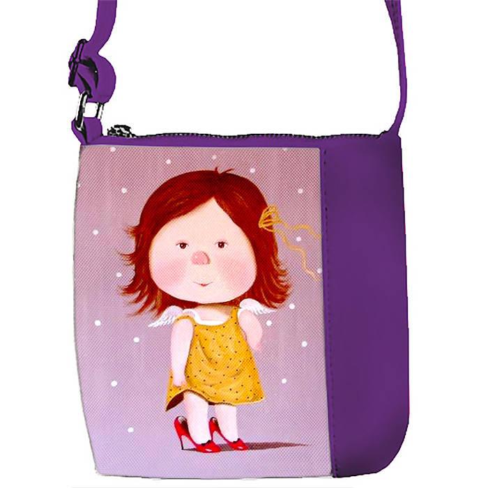 Фиолетовая сумочка с принтом Гапчинская
