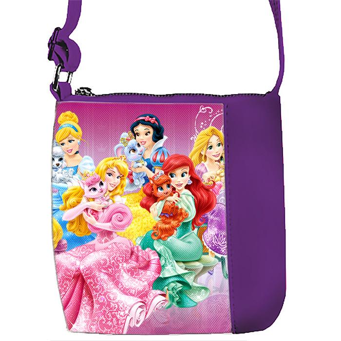 Фиолетовая сумочка с принтом Принцессы Диснея